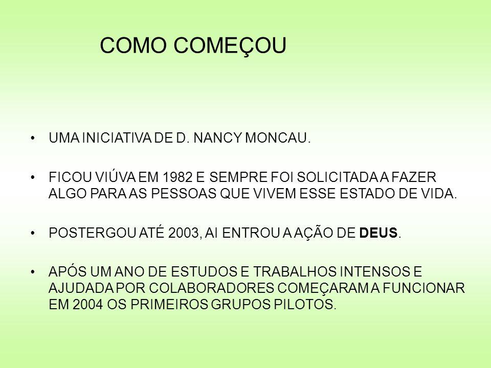 COMO COMEÇOU UMA INICIATIVA DE D. NANCY MONCAU.