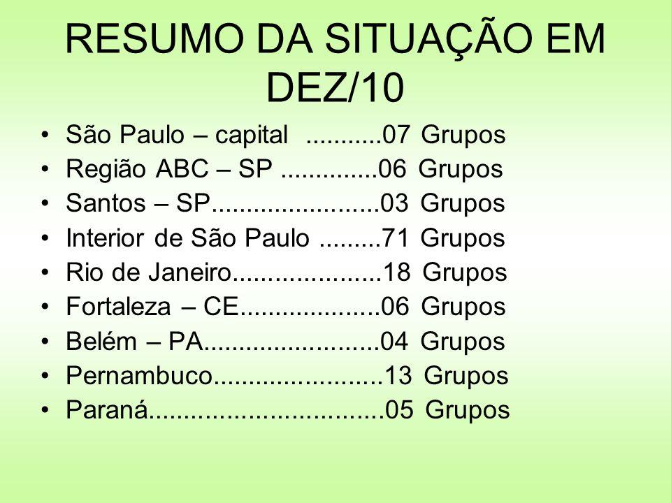 RESUMO DA SITUAÇÃO EM DEZ/10