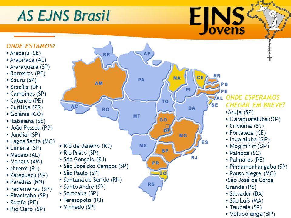 AS EJNS Brasil ONDE ESTAMOS ONDE ESPERAMOS CHEGAR EM BREVE
