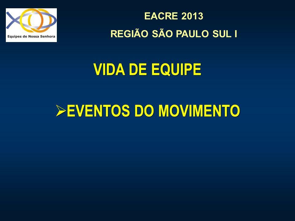 VIDA DE EQUIPE EVENTOS DO MOVIMENTO