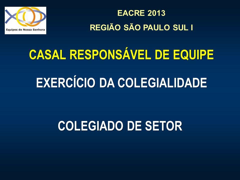 CASAL RESPONSÁVEL DE EQUIPE EXERCÍCIO DA COLEGIALIDADE