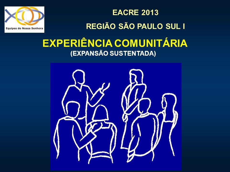 EXPERIÊNCIA COMUNITÁRIA (EXPANSÃO SUSTENTADA)