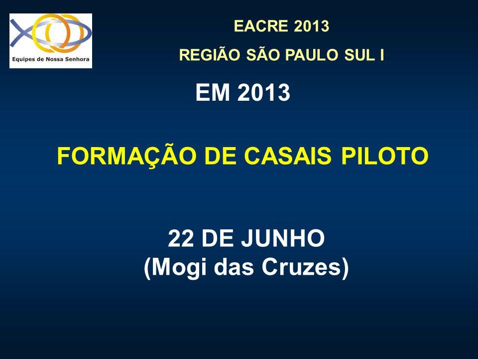 FORMAÇÃO DE CASAIS PILOTO