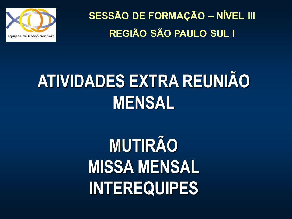ATIVIDADES EXTRA REUNIÃO MENSAL