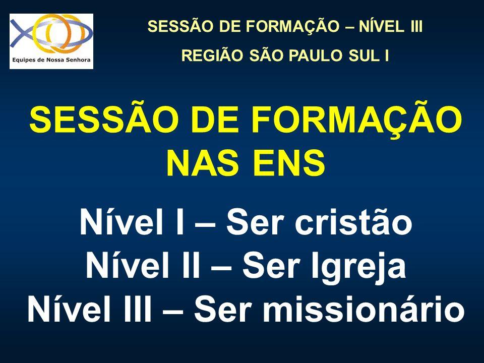 SESSÃO DE FORMAÇÃO NAS ENS Nível III – Ser missionário