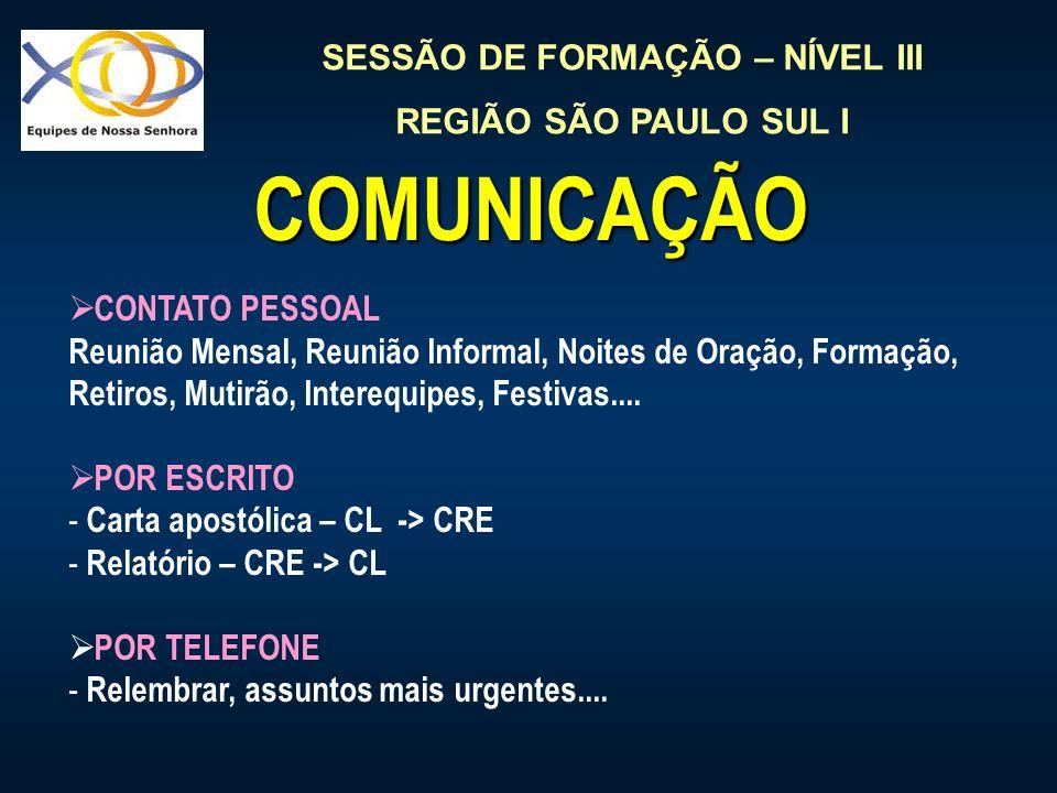 COMUNICAÇÃO CONTATO PESSOAL