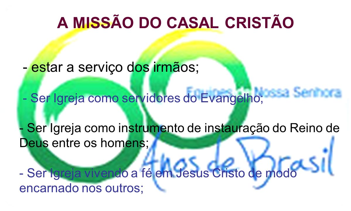 A MISSÃO DO CASAL CRISTÃO