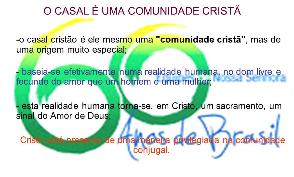 O CASAL É UMA COMUNIDADE CRISTÃ