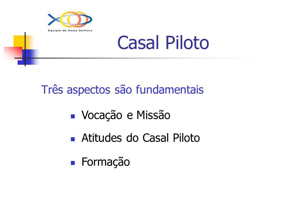Casal Piloto Três aspectos são fundamentais Vocação e Missão
