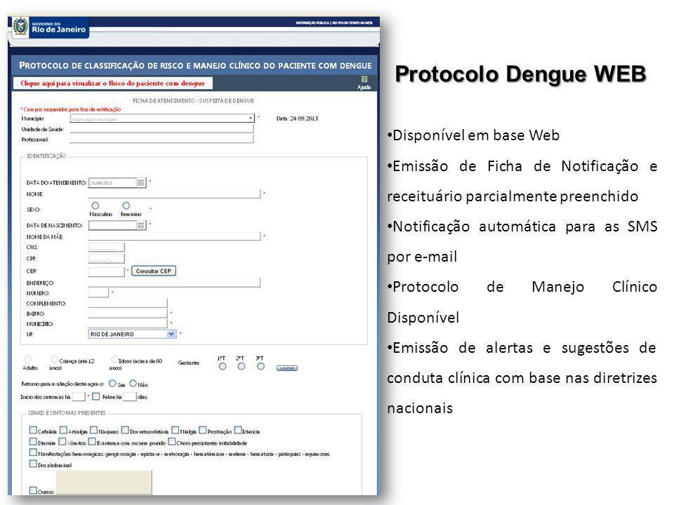 Protocolo Dengue WEB Disponível em base Web