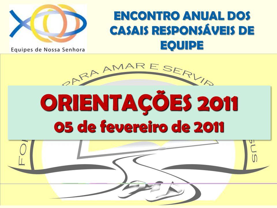 ORIENTAÇÕES 2011 05 de fevereiro de 2011
