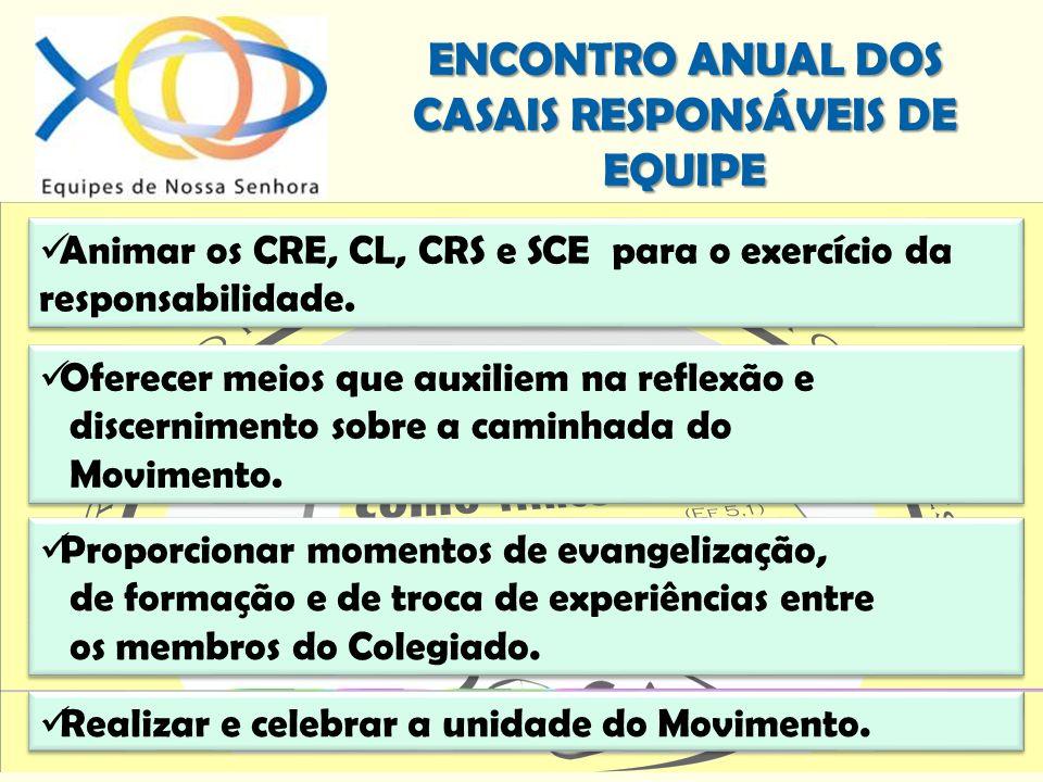 Animar os CRE, CL, CRS e SCE para o exercício da responsabilidade.