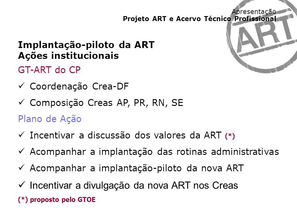 Incentivar a divulgação da nova ART nos Creas