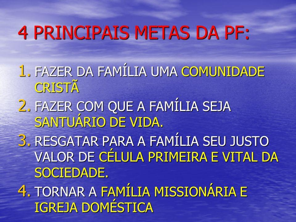 4 PRINCIPAIS METAS DA PF: