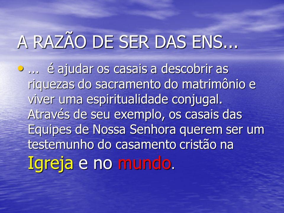A RAZÃO DE SER DAS ENS...