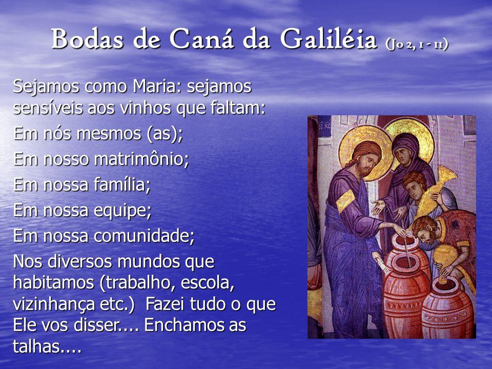 Bodas de Caná da Galiléia (Jo 2, 1 - 11)