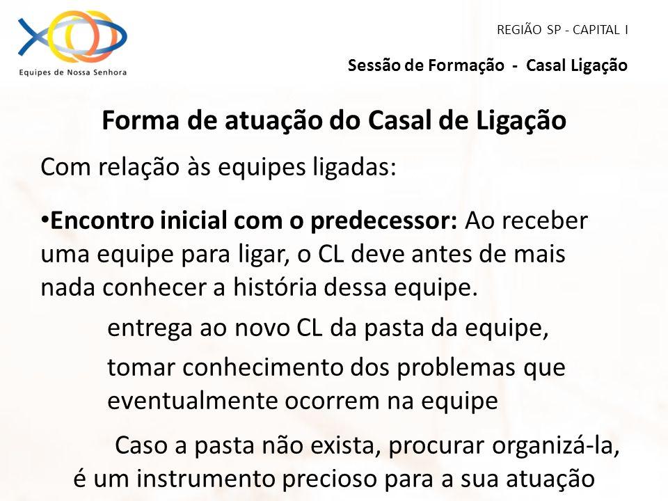 REGIÃO SP - CAPITAL I Sessão de Formação - Casal Ligação
