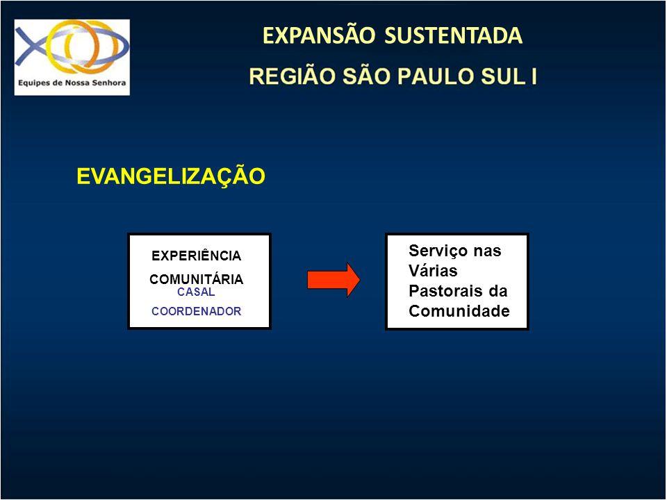 EVANGELIZAÇÃO Serviço nas Várias Pastorais da Comunidade EXPERIÊNCIA