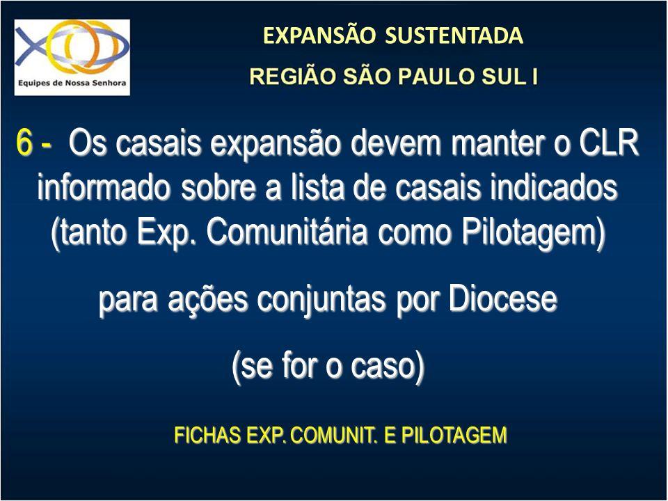 para ações conjuntas por Diocese (se for o caso)