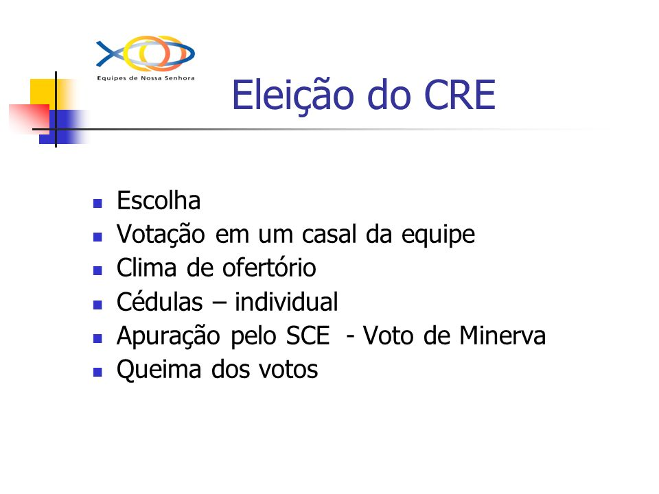 Eleição do CRE Escolha Votação em um casal da equipe