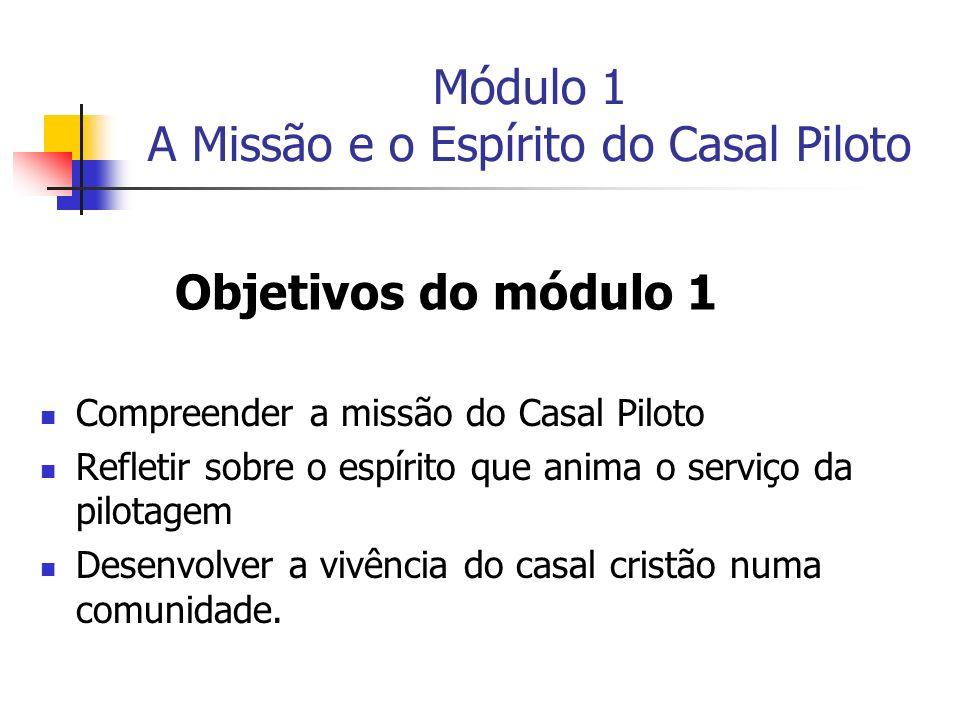 Módulo 1 A Missão e o Espírito do Casal Piloto