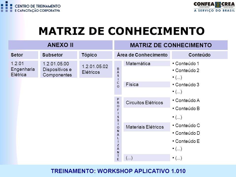 MATRIZ DE CONHECIMENTO