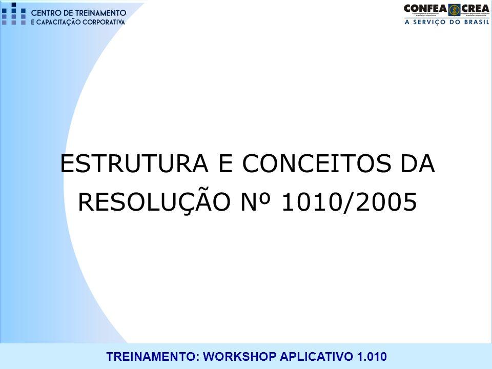 ESTRUTURA E CONCEITOS DA RESOLUÇÃO Nº 1010/2005