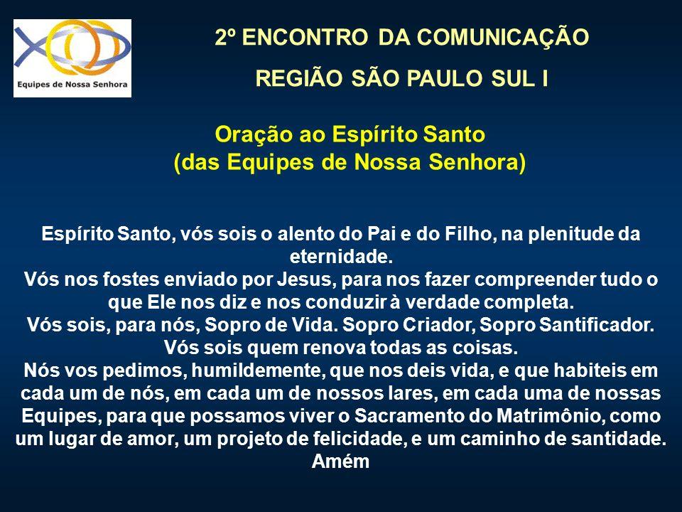 Oração ao Espírito Santo (das Equipes de Nossa Senhora)