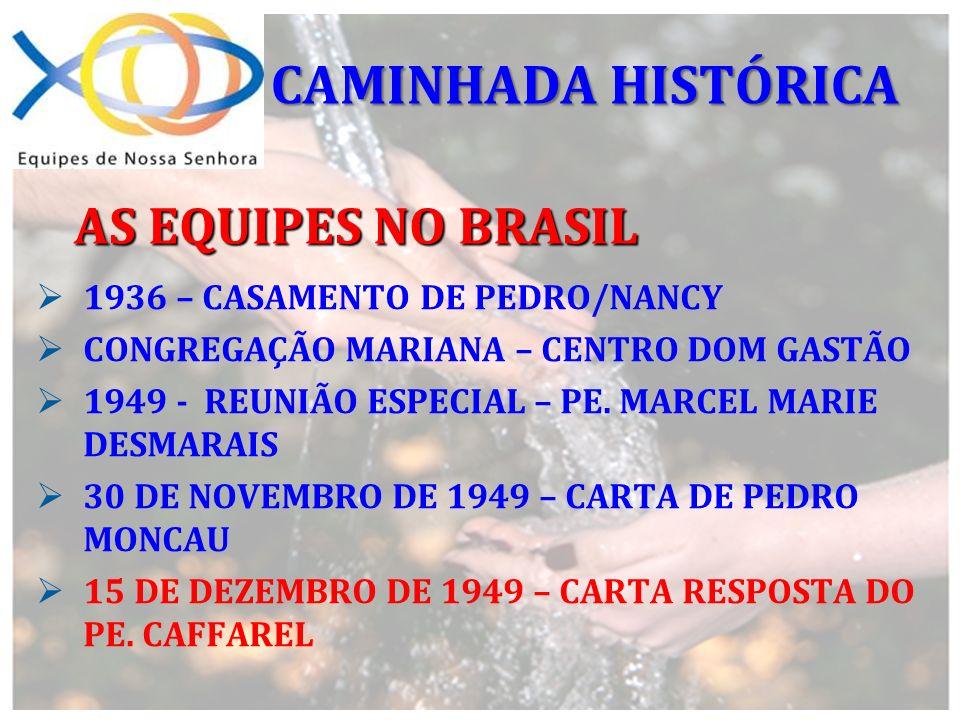 CAMINHADA HISTÓRICA AS EQUIPES NO BRASIL