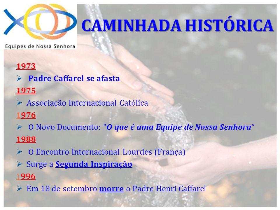 CAMINHADA HISTÓRICA 1973 Padre Caffarel se afasta 1975