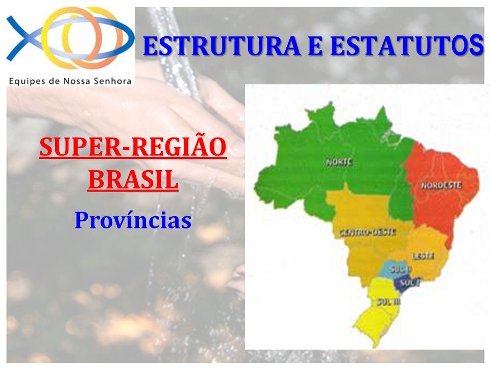 ESTRUTURA E ESTATUTOS SUPER-REGIÃO BRASIL Províncias