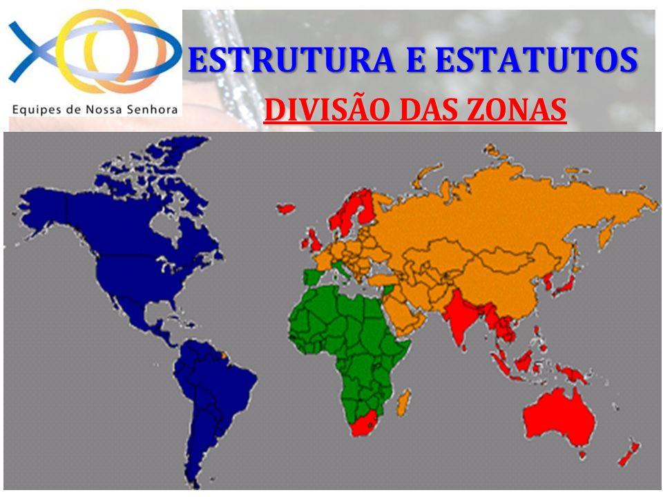 ESTRUTURA E ESTATUTOS DIVISÃO DAS ZONAS