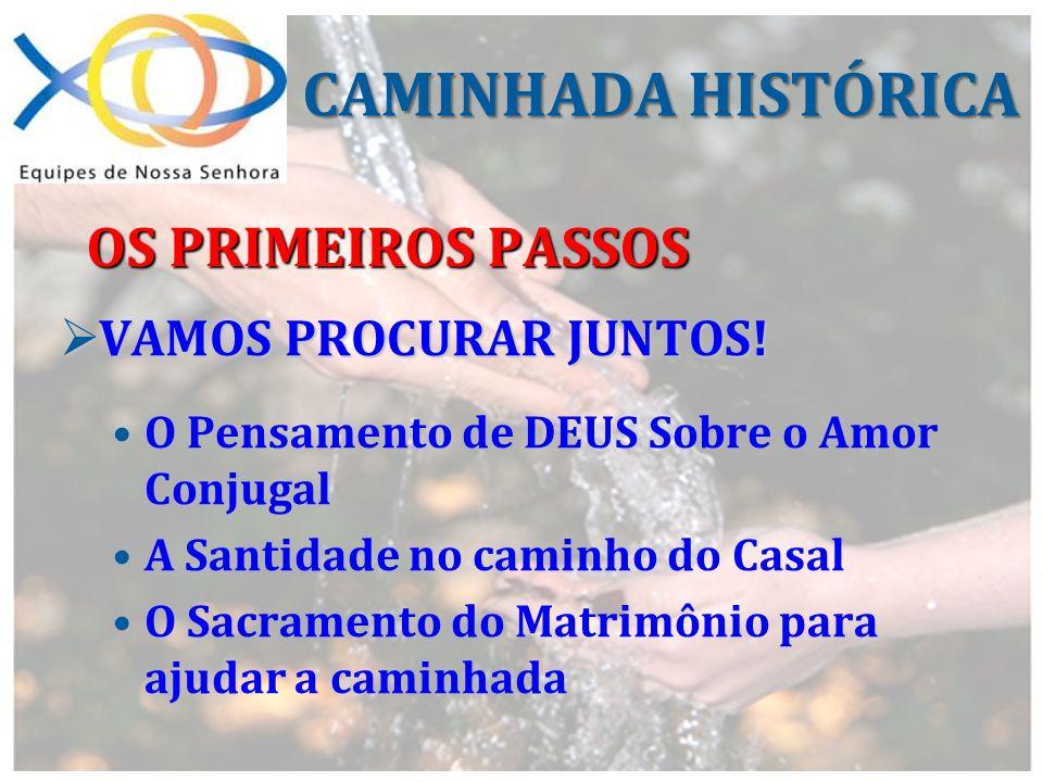 CAMINHADA HISTÓRICA OS PRIMEIROS PASSOS VAMOS PROCURAR JUNTOS!