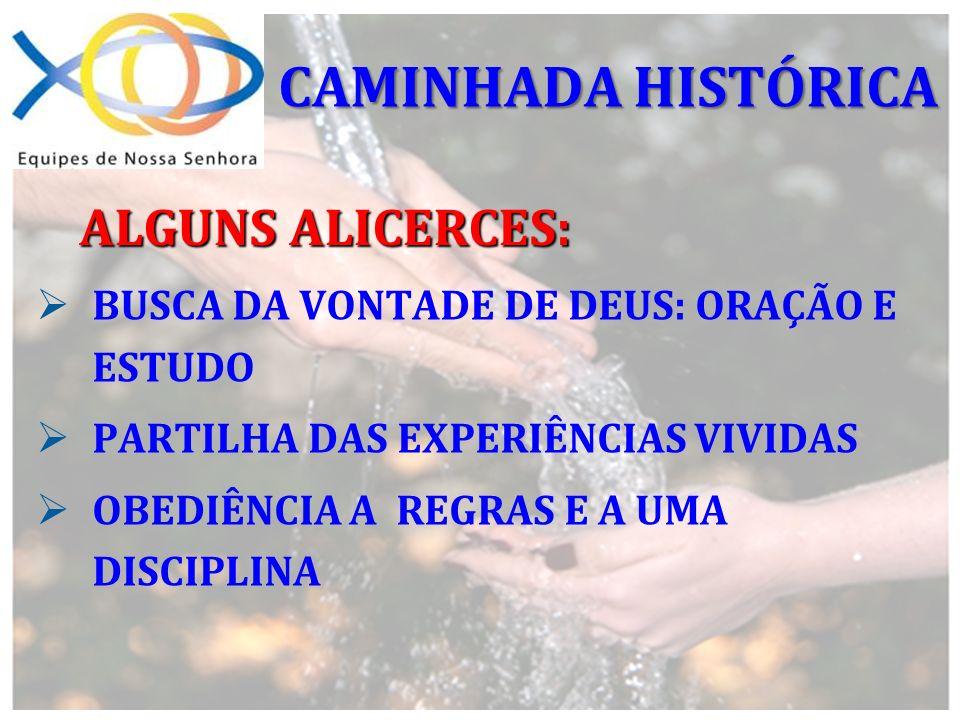 CAMINHADA HISTÓRICA ALGUNS ALICERCES: