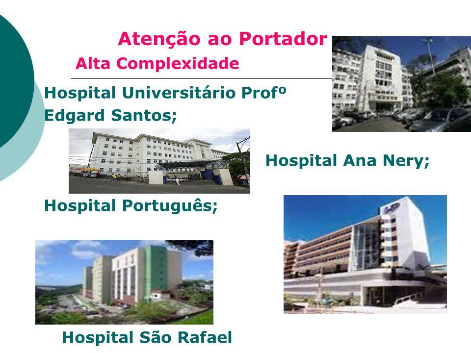 Atenção ao Portador Alta Complexidade Hospital Universitário Profº