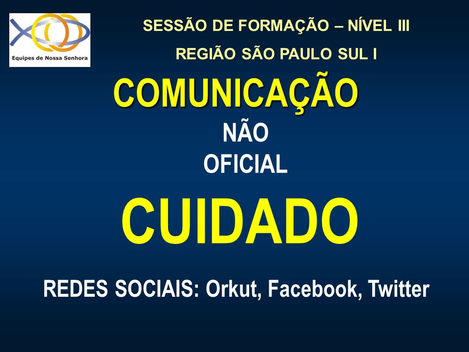 REDES SOCIAIS: Orkut, Facebook, Twitter
