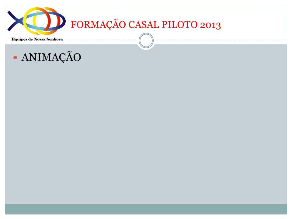 FORMAÇÃO CASAL PILOTO 2013 ANIMAÇÃO