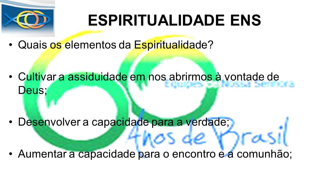 ESPIRITUALIDADE ENS Quais os elementos da Espiritualidade