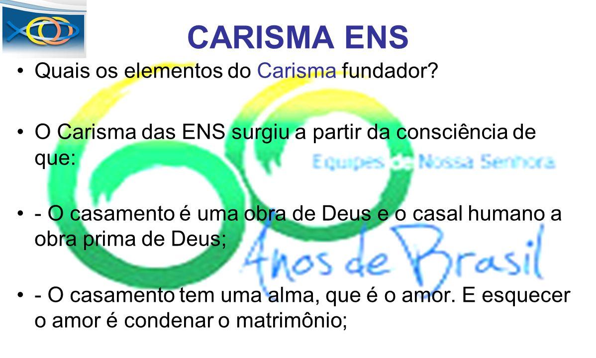 CARISMA ENS Quais os elementos do Carisma fundador