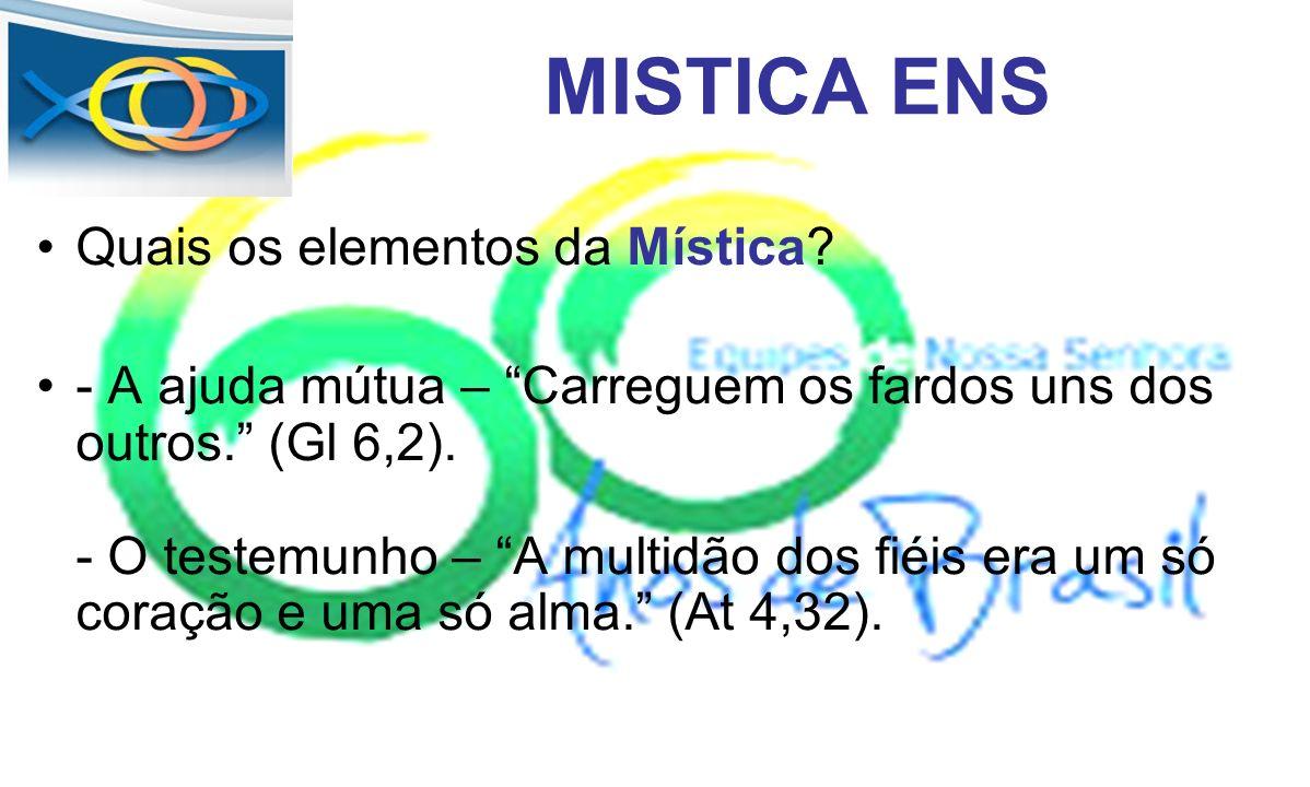 MISTICA ENS Quais os elementos da Mística
