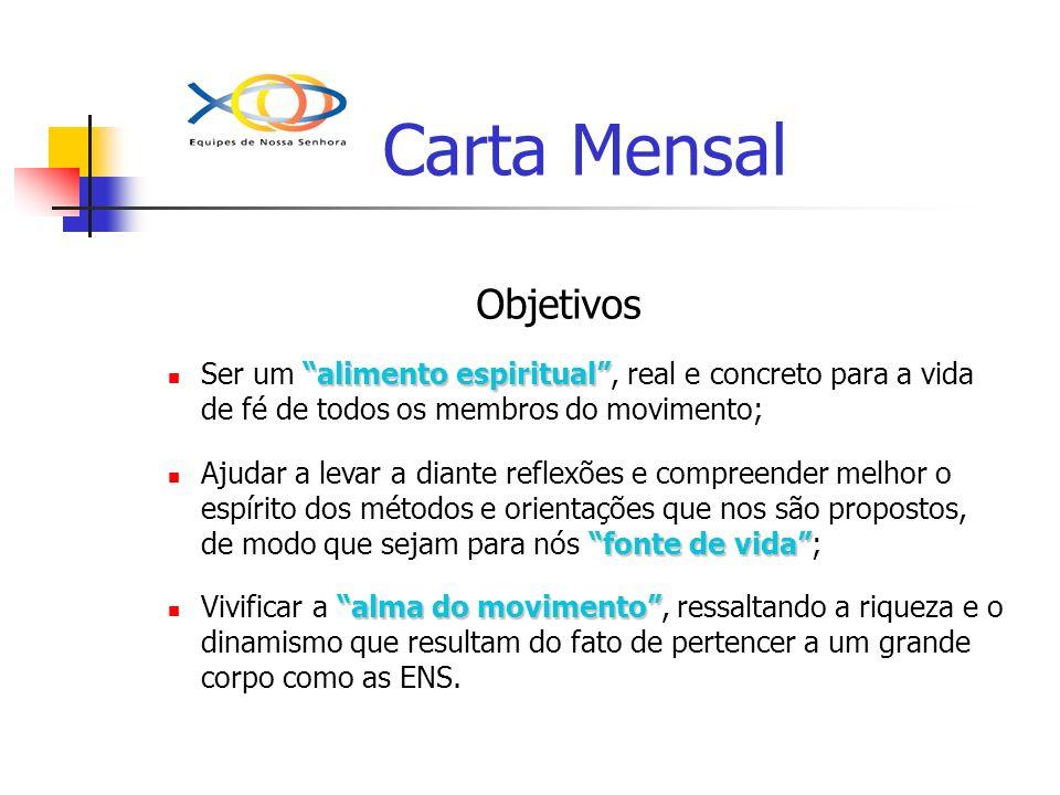 Carta Mensal Objetivos