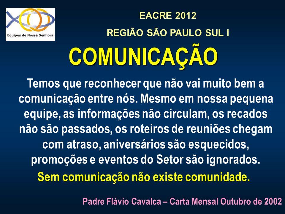 Sem comunicação não existe comunidade.