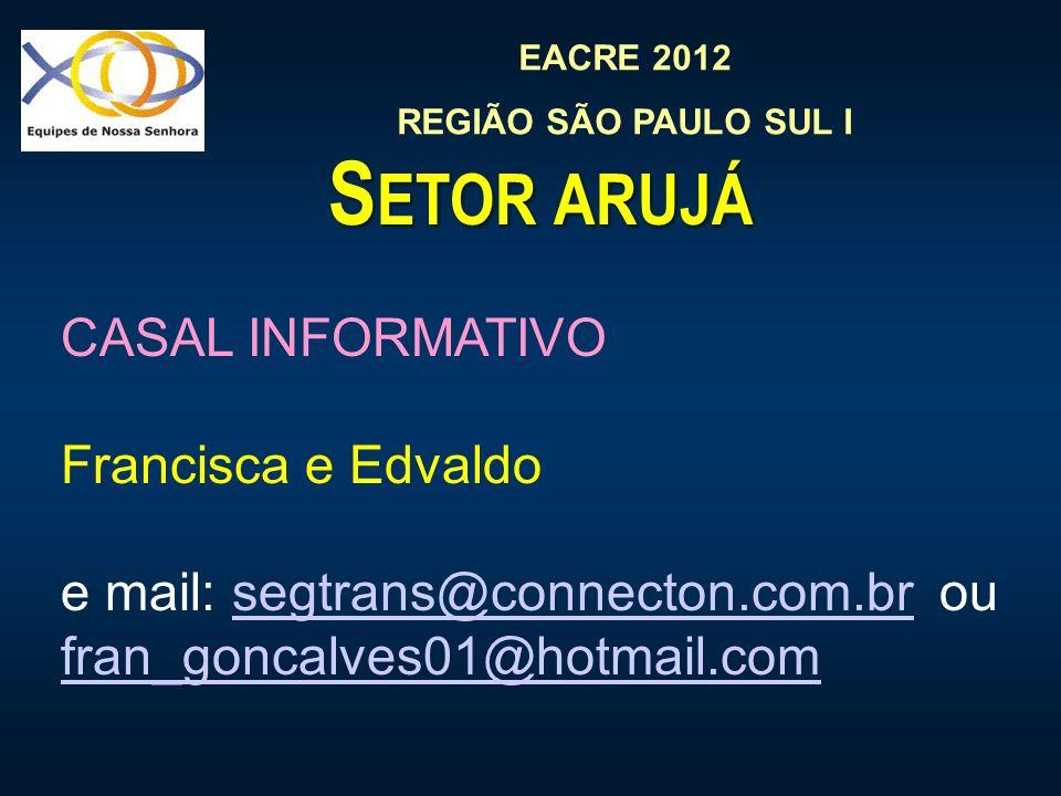 Setor arujá CASAL INFORMATIVO Francisca e Edvaldo