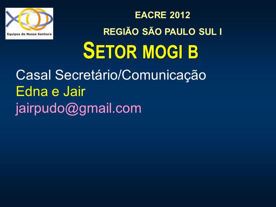 Setor mogi b Casal Secretário/Comunicação Edna e Jair