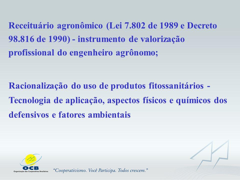 Receituário agronômico (Lei 7. 802 de 1989 e Decreto 98
