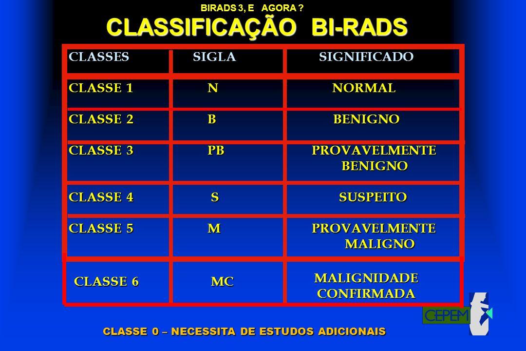 CLASSIFICAÇÃO BI-RADS