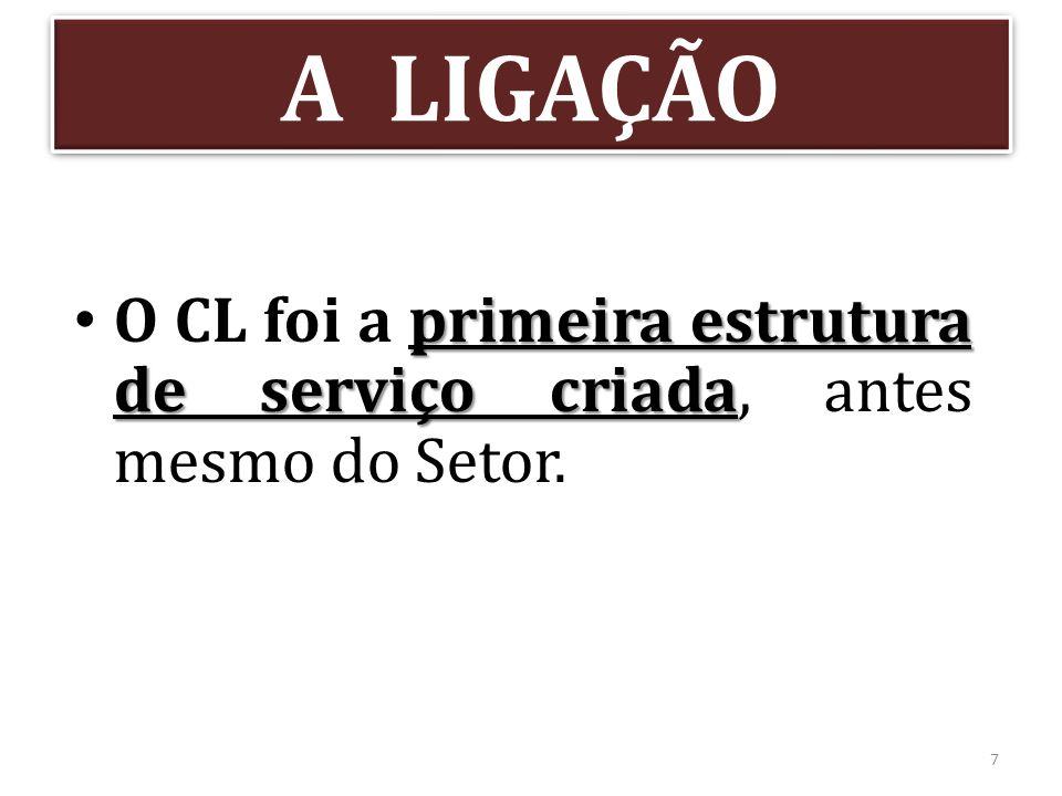 A LIGAÇÃO O CL foi a primeira estrutura de serviço criada, antes mesmo do Setor.