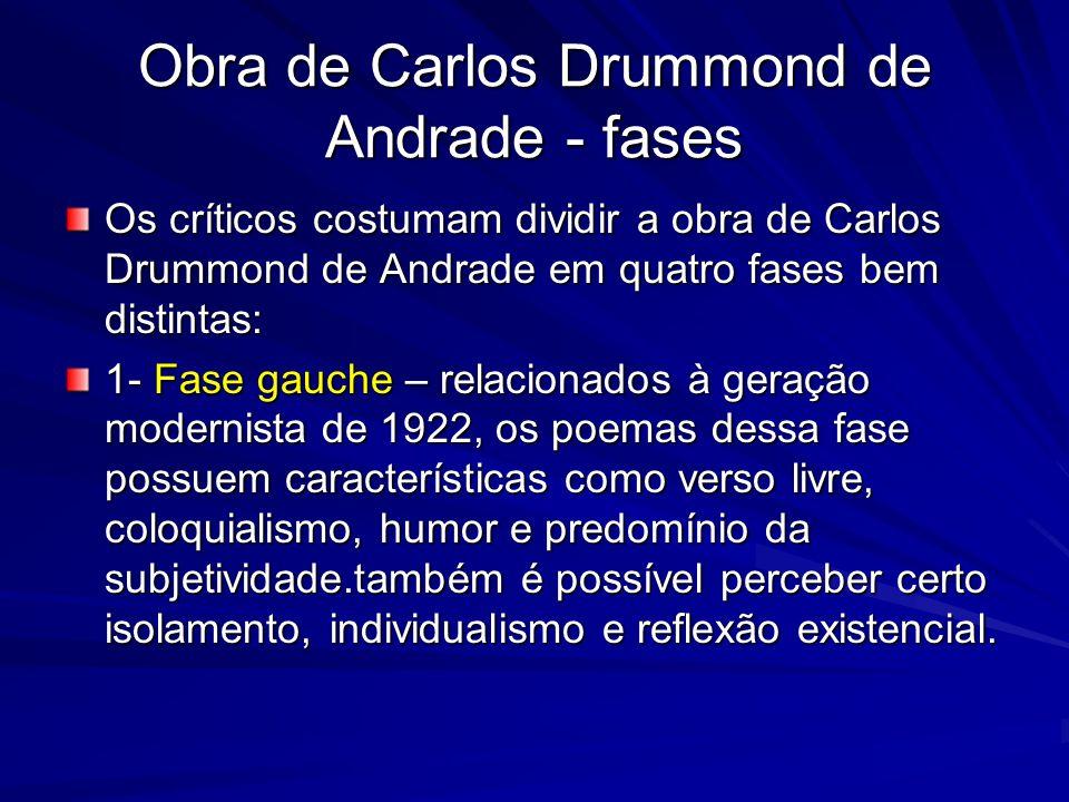 Obra de Carlos Drummond de Andrade - fases