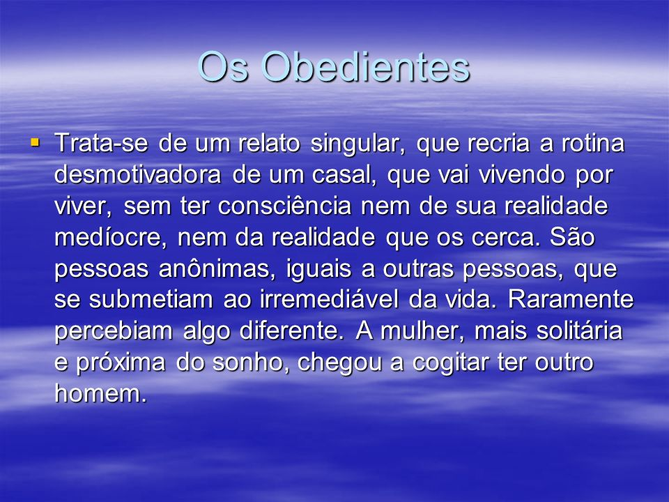 Os Obedientes