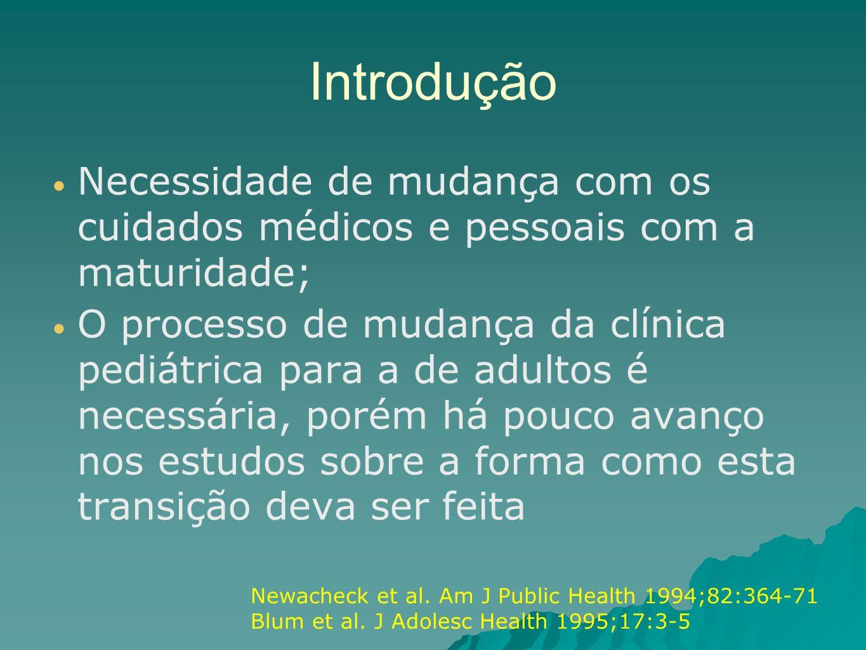 Introdução Necessidade de mudança com os cuidados médicos e pessoais com a maturidade;